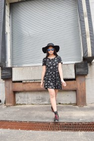 Dress from Forever 21. Shades from Poshmark.